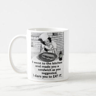Funny Feminist Make Me a Sandwich Coffee Mug