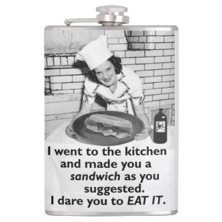 Funny Feminist Make Me a Sandwich Flask