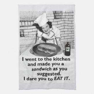 Funny Feminist Make Me a Sandwich Hand Towel