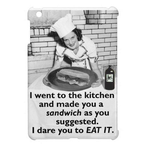 Funny Feminist Make Me a Sandwich iPad Mini Covers