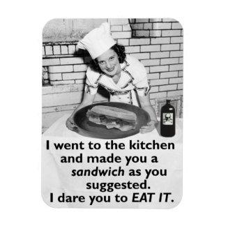 Funny Feminist Make Me a Sandwich Rectangular Photo Magnet