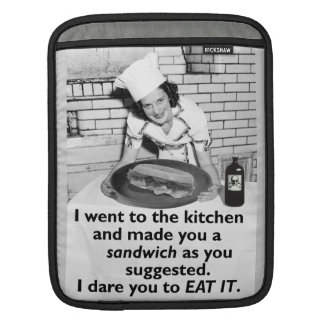 Funny Feminist Make Me a Sandwich Sleeves For iPads