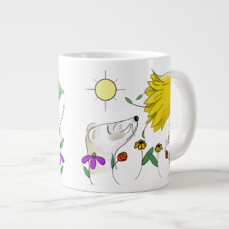 Funny Ferret Face Large Coffee Mug