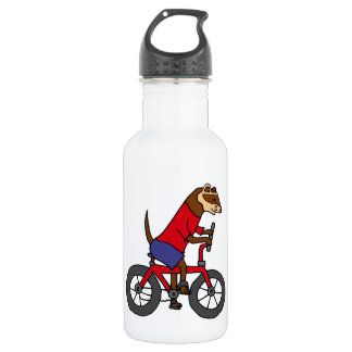 Funny Ferret Riding Red Bicycle 532 Ml Water Bottle