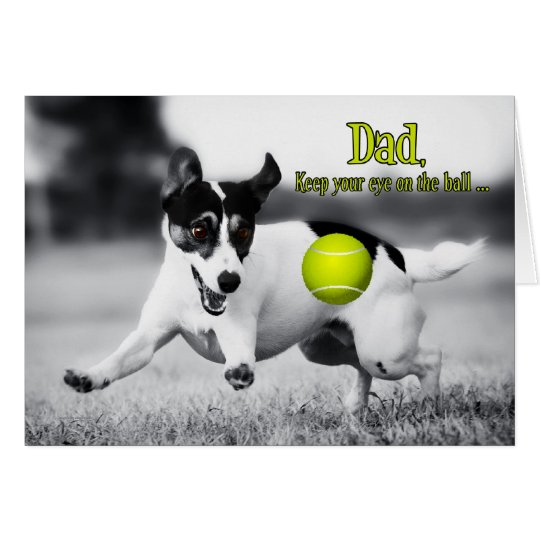 Funny Fetch JRT Dog Father's Day Card