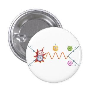 Funny Feynman Diagram 1 Inch Round Button