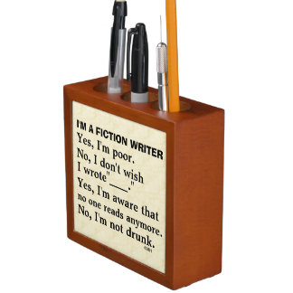 Funny Fiction Writer Answer Sheet Desk Organizer