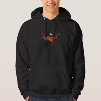 funny fiddler crab cartoon hooded pullovers