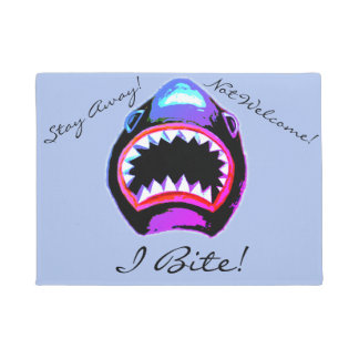 Funny Fierce Shark Design Doormat