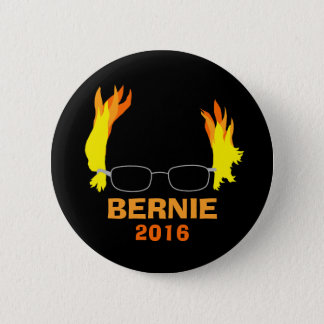 Funny Fiery Hair Bernie Sanders 2 Inch Round Button