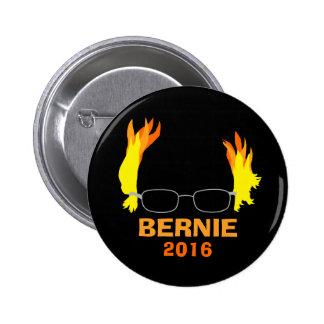 Funny Fiery Hair Bernie Sanders 2 Inch Round Button
