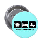Funny figure skating pinback buttons