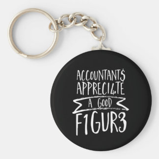 Funny Finance Accountant Office Humor Keychain