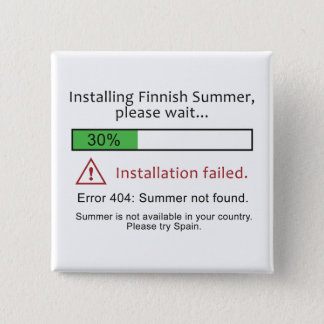 Funny Finnish Summer button button