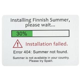 Funny Finnish Summer floor mat