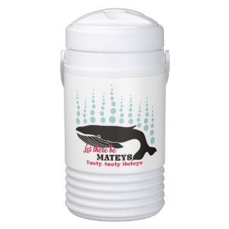 Funny fish boating killer whale tasty mateys drinks cooler