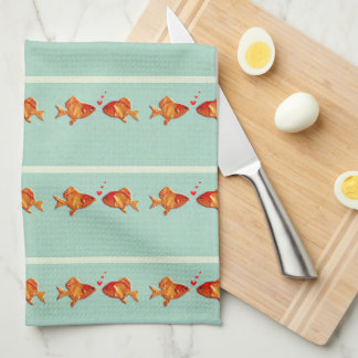 Funny Fish Hand Towel