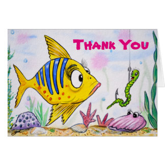 Funny Fish Thank You Note Card