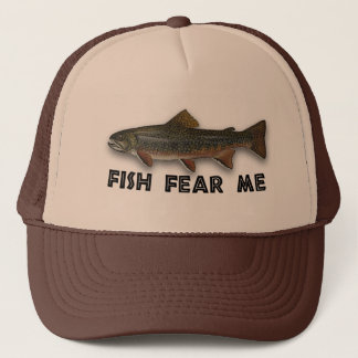 Funny Fisherman  Fish Fear Me Trucker Hat