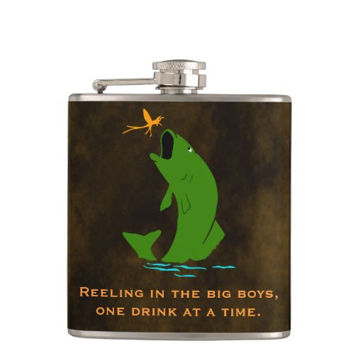 Funny Fisherman's Custom Flask