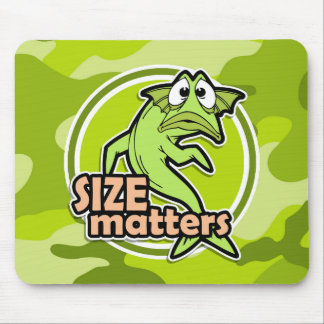 Funny Fishing bright green camo camouflage Mouse Pads