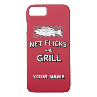 Funny Fishing Cast Net Fish Joke Parody iPhone 7 Case