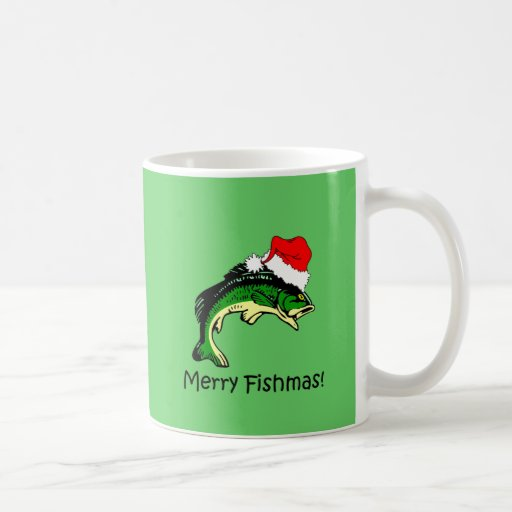 Funny fishing Christmas Coffee Mugs