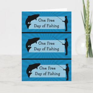 Funny Fishing Humor Coupons Birthday Card