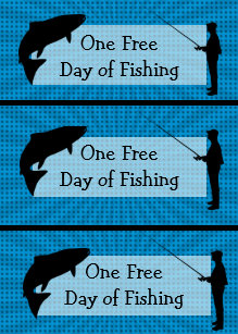 Funny Fishing Humor Coupons Birthday Card