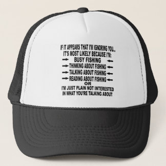 FUNNY FISHING OBSESSION TRUCKER HAT