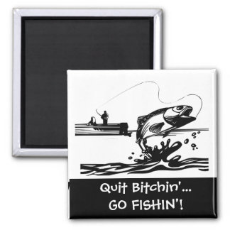 Funny Fishing Saying - Cartoon Graphic Magnet