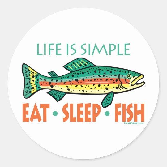 Funny Fishing Saying Classic Round Sticker