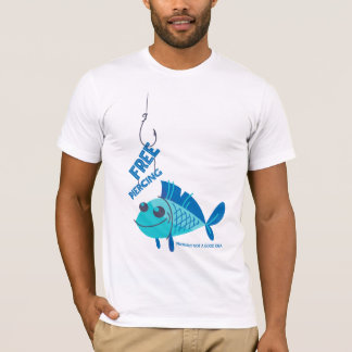 Funny Fishing Shirts Free Piercing White Shirt