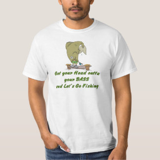 Funny Fishing T-Shirt Fishing Humor Head Out Bass