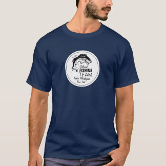 Funny Fishing Team Blue Shirt | Your Name & Lake