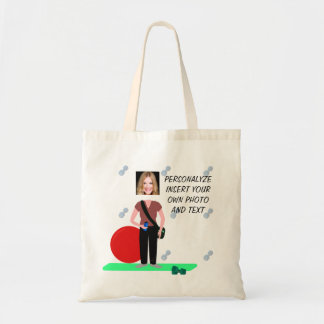 Funny Fitness, Dance, Tote Bag - Add Photo & Text