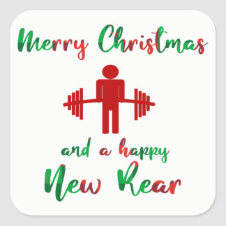 Funny Fitness Fitmas Christmas Trainer Sticker