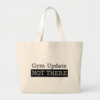 Funny fitness gym quote large tote bag