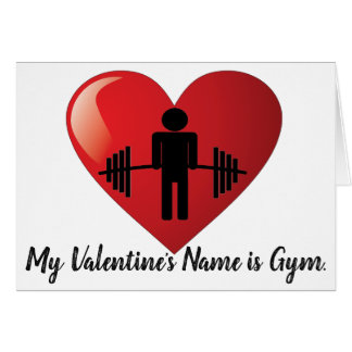 Funny Fitness Gym Valentine Card