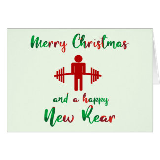 Funny Fitness Themed Christmas Card
