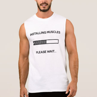 Funny fitness tshirt muscles gym weight lifting