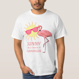 Funny Flamingo Beach Weather Forecast Tees