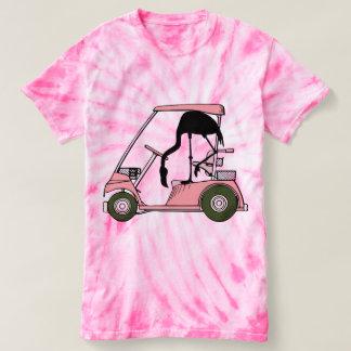 Funny Flamingo Golf Cart T-shirt