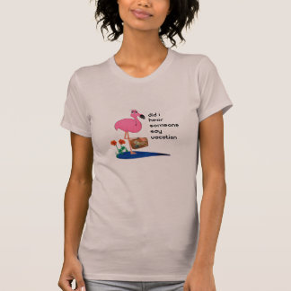 Funny Flamingo on Vacation T-shirt