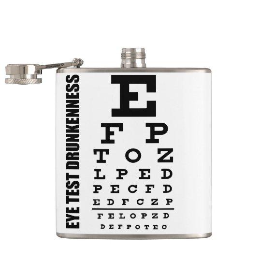 funny  flask, DRUNK TEST Hip Flask