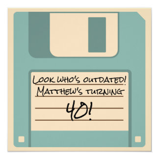Funny Floppy Disk Outdated Party Invitation