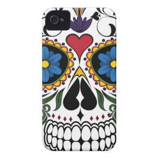 Funny Floral Skull iPhone 4 Cover