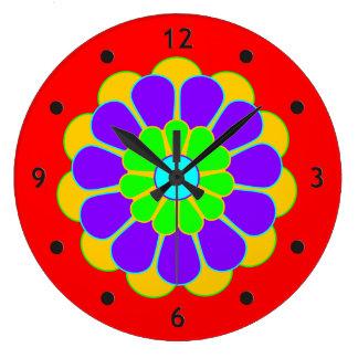 Funny Flower Power Bloom II Clocks