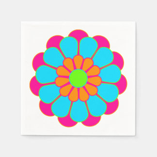Funny Flower Power Bloom III + your idea Disposable Napkins