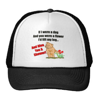 Funny Flower Shower T-shirts Gifts Mesh Hat